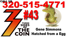 Gene Simmons Hatched from a Egg, Ace Frehley from Planet Jendell, KISS Back Stories 320-515-4771