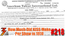 Ep. 218 How Much Money Did KISS Make Per Show in 1974?